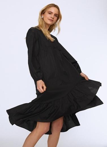 Quzu Quzu Siyah Elbise Siyah